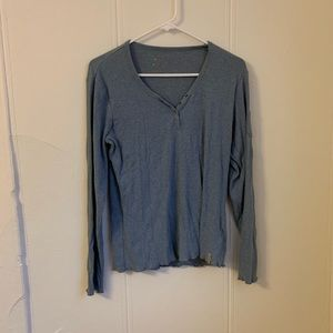 Columbia Blue Buttoned Blouse Size Large